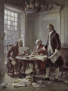 Drafting the Declaration of Independence by Jean Leon Gerome Ferris
