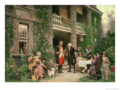 George Washington (1732-99) at Bartram's Garden, 1774