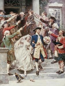 Here Comes the Bride, Wedding of Washington, c.1759 by Jean Leon Gerome Ferris