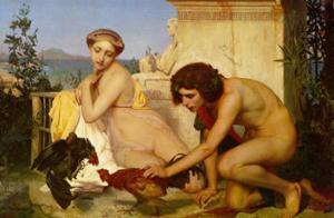 Jeunes Grecs Faisant Battre des Coqs, c.1846 by Jean Leon Gerome Ferris
