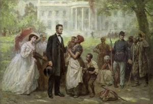 Lincoln and the Contraband by Jean Leon Gerome Ferris