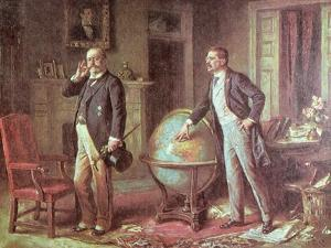 President Theodore Roosevelt of the United States of America and the German Kaiser Wilhelm II by Jean Leon Gerome Ferris