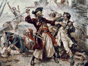 The Capture of the Pirate Blackbeard, 1718 (Detail) by Jean Leon Gerome Ferris