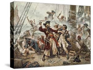 The Capture of the Pirate Blackbeard, 1718 by Jean Leon Gerome Ferris