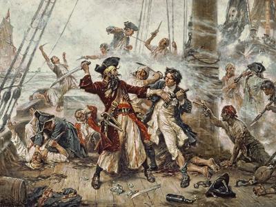 The Capture of the Pirate Blackbeard, 1718
