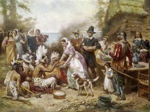 The First Thanksgivng, 1621 by Jean Leon Gerome Ferris