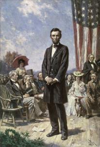 The Gettysburg Address by Jean Leon Gerome Ferris