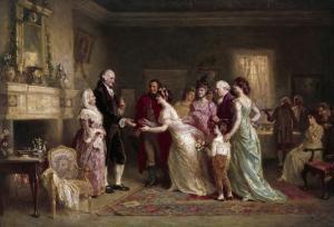 Washington's Birthday by Jean Leon Gerome Ferris