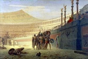 Hail Caesar! We Who are About to Die Salute You, 19th Century by Jean-Leon Gerome