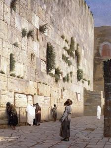 Solomon's Wall, Jerusalem by Jean Leon Gerome