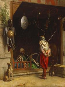 The Arms Market at Cairo; Un Marchand D'Armes Au Caire by Jean Leon Gerome