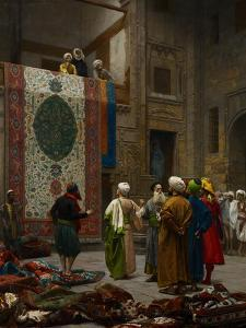 The Carpet Merchant, C.1887 by Jean Leon Gerome