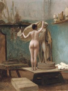 The End of the Sitting, C.1896 by Jean Leon Gerome