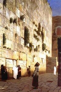 The Wailing Wall, Jerusalem, 1869 by Jean Leon Gerome