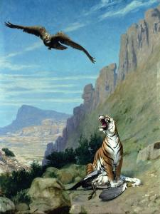 Tiger and Vulture by Jean Leon Gerome