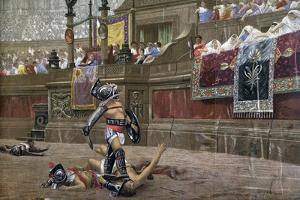 With a Turned Thumb, (Pollice Vers), 1872 by Jean-Leon Gerome