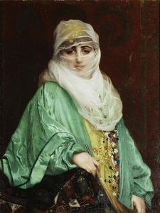 Woman from Constantinople, Standing, C.1876 by Jean Leon Gerome