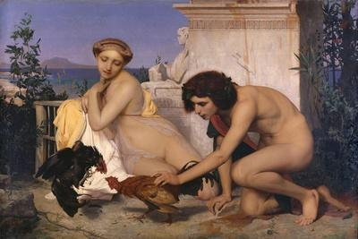 Young Greeks Attending a Cock Fight (The Cock Fight), 1846