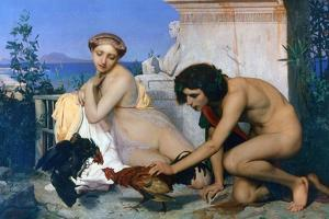 Young Greeks Encouraging Cocks to Fight, 1846 by Jean-Leon Gerome
