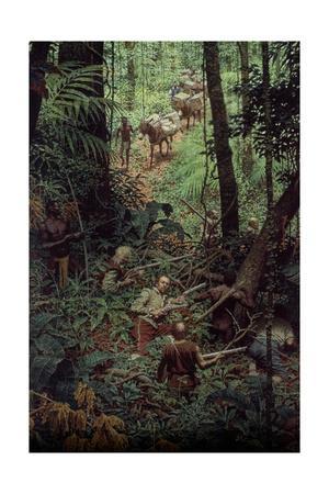 Sir Francis Drake Prepares to Ambush Treasure-Laden Mule Train