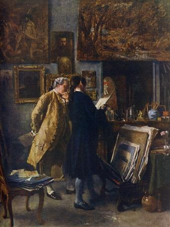 An Artist Showing His Work, C. 1850