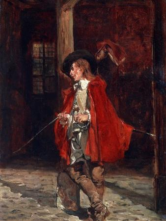 Bretteur (Swordsma) in a Red Cloak, 19th Century