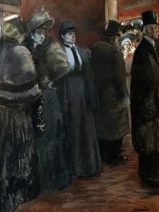 A Theatre Foyer, Late 19th or Early 20th Century by Jean Louis Forain