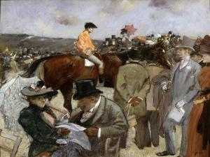 Horseracing, 1888 by Jean Louis Forain