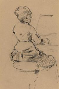 Young Woman Seated at a Piano [verso], c.1890 by Jean Louis Forain