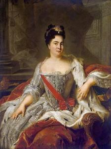 Catherine I, 1717 by Jean-Marc Nattier