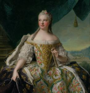 Dauphine Marie-Josephe De Saxe (1731-67) 1751 by Jean-Marc Nattier
