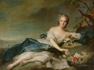 Henrietta Maria of France (1606-69) as Flora, 1742 by Jean-Marc Nattier