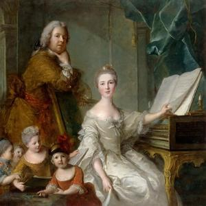 Jean-Marc Nattier and His Family by Jean-Marc Nattier