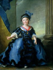 Louis-Joseph-Xavier de France Duke of Burgundy, 1754 by Jean-Marc Nattier