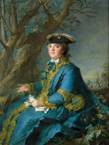 Louise Élisabeth of France (1727-175), Duchess of Parma by Jean-Marc Nattier