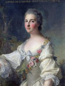 Louise-Henriette-Gabrielle De Lorraine (1718-88) Princess of Turenne and Duchess of Bouillon, 1746 by Jean-Marc Nattier
