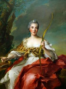 Madame De Maison-Rouge as Diana by Jean-Marc Nattier