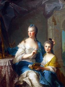 Madame Marsollier and Her Daughter by Jean-Marc Nattier