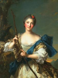 Mademoiselle De Migieu as Diana, 1742 by Jean-Marc Nattier