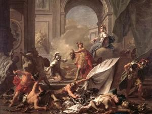 Perseus, Under the Protection of Minerva, Turns Phineus to Stone by Brandishing the Head of Medusa by Jean-Marc Nattier