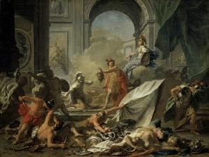 Perseus with Minerva Showing the Head of Medusa Toa Mob Led by Phineus by Jean-Marc Nattier