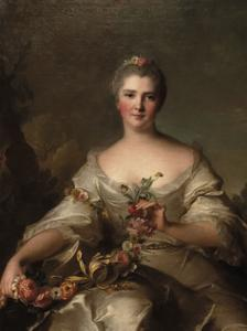 Portrait de Madame de La Porte, 1752 by Jean-Marc Nattier