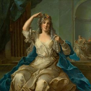 Portrait of a Lady as a Vestal Virgin, 1759 by Jean-Marc Nattier