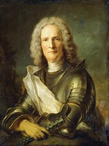 Portrait of a Marechal De France, Probably Chretien-Louis De Montmorency-Luxembourg by Jean-Marc Nattier