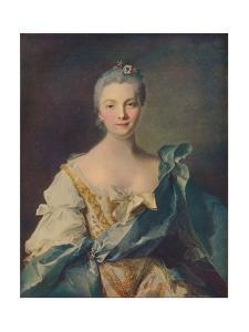 'Portrait of a Young Woman'', 18th century by Jean-Marc Nattier