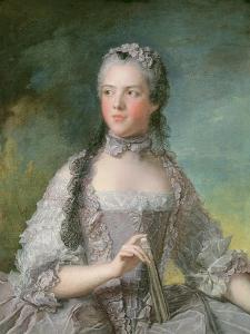 Portrait of Adelaide De France (1732-1800) with a Fan, 1749 by Jean-Marc Nattier