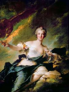 Portrait of Anne-Josèphe Bonnier De La Mosson, Duchesse De Chaulnes as Hebe by Jean-Marc Nattier