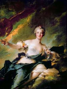 Portrait of Anne-Josèphe Bonnier De La Mosson, Duchesse De Chaulnes as Hebe by Jean-Marc Nattier
