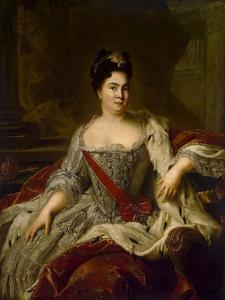 Portrait of Empress Catherine I, (1684-172), 1717 by Jean-Marc Nattier