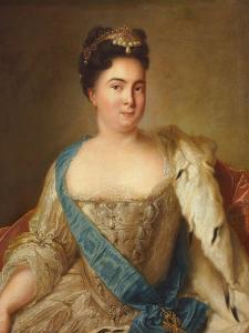Portrait of Empress Catherine I (1684-1727) by Jean-Marc Nattier